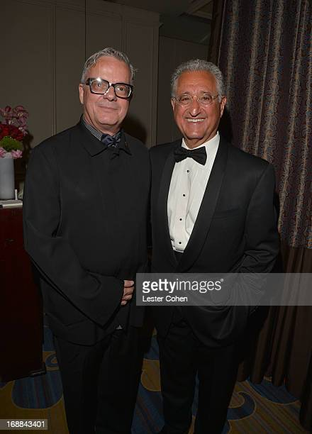 Composer Mark Mothersbaugh and BMI President and CEO Del Bryant attend the 2013 BMI Film/TV Awards at the Beverly Wilshire Four Seasons Hotel on May...