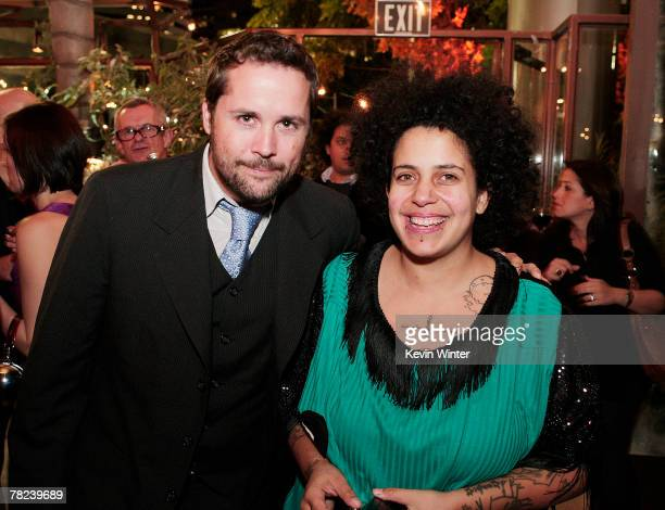 Composer Mateo Messina and singer Kimya Dawson pose at the afterparty for the premiere of Fox Searchlight's Juno at the Napa Valley Grille on...