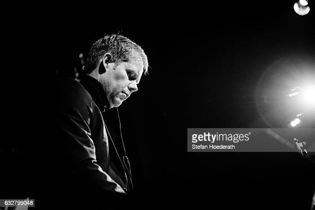 Composer Max Richter performs live on stage during Yellow Lounge organized by recording label Deutsche Grammophon at Saeaelchen on January 26 2017 in...
