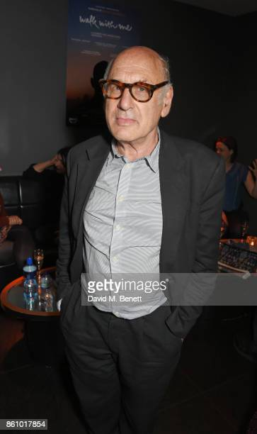 Composer Michael Nyman attends the 'Walk With Me' party sponsored by Martin Millers Gin at The Den 100 Wardour St on October 13 2017 in London England