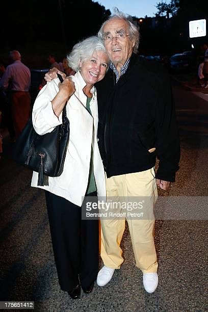 Composer Michel Legrand and his wife Catherine Michel attend 'Un drole de pere' play at 29th Ramatuelle Festival day 6 on August 5 2013 in Ramatuelle...