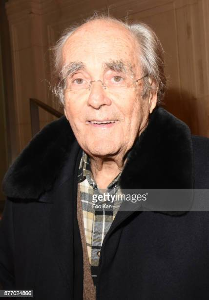 Composer Michel Legrand attends the Tribute to JeanClaude Brialy at Centre National du Cinema et de l'Image Animee on November 20 2017 in Paris France