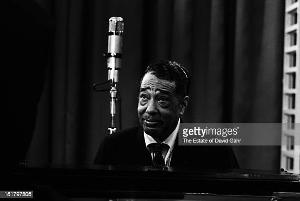 Composer musician and bandleader Duke Ellington performs at NBCTV Studios in May 1964 in New York City New York