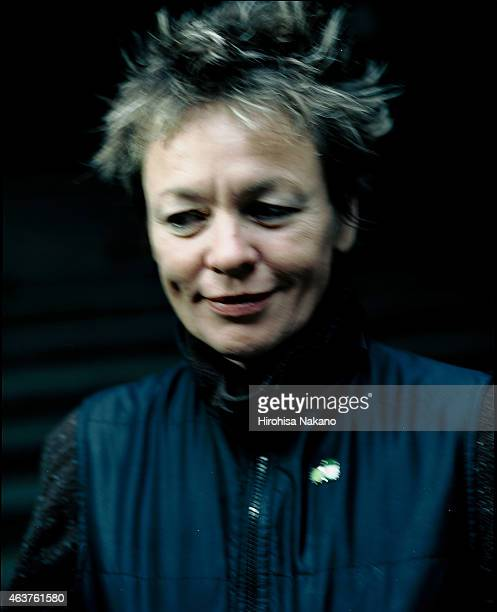 Composer musician and singer Laurie Anderson is photographed on November 14 2003 in Tokyo Japan