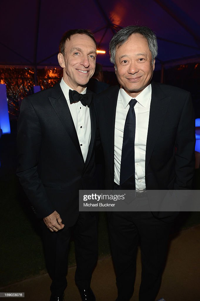 Composer Mychael Danna (L) and director Ang Lee attend the 24th Annual Palm Springs International Film Festival Awards Gala After Party At Parker Palm Springs on January 5, 2013 in Palm Springs, California.