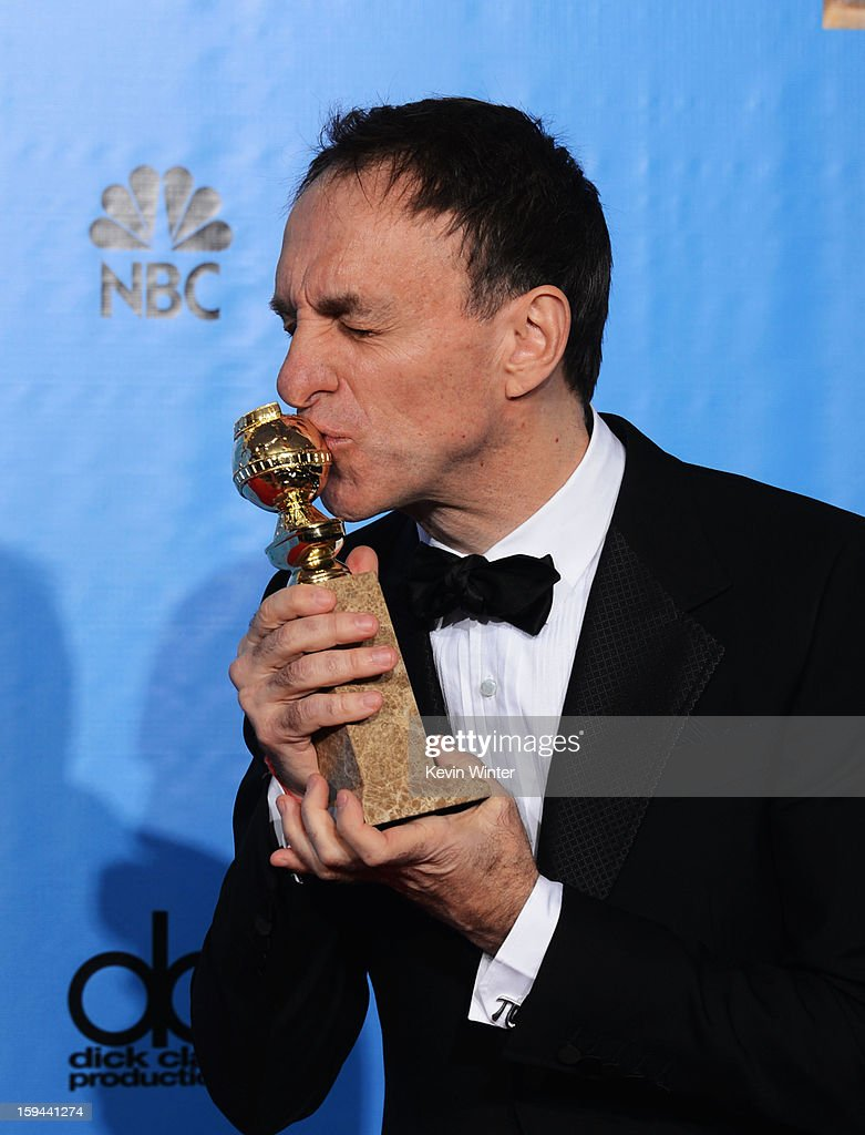 Composer Mychael Danna, winner of Best Original Score for a Motion Picture for 'Life of Pi,' poses in the press room during the 70th Annual Golden Globe Awards held at The Beverly Hilton Hotel on January 13, 2013 in Beverly Hills, California.