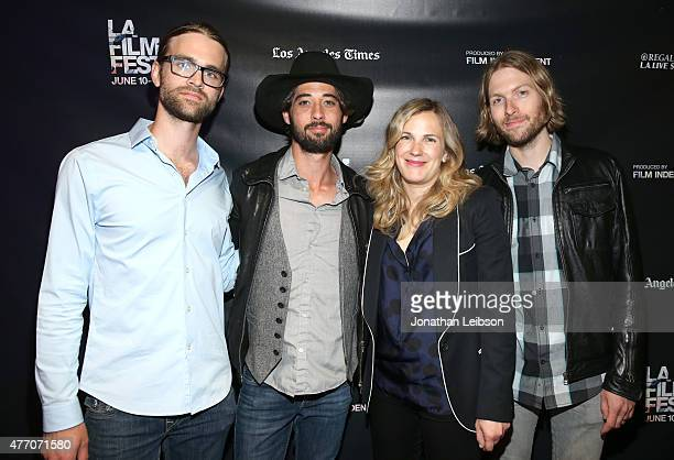 Composer Nate Barnes singersongwriter Ryan Bingham director Anna Axster and composer Daniel Sproul attend the A Country Called Home screening during...
