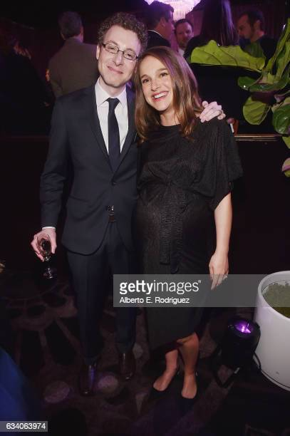 Composer Nicholas Britell and actress Natalie Portman attend the 89th Annual Academy Awards Nominee Luncheon at The Beverly Hilton Hotel on February...