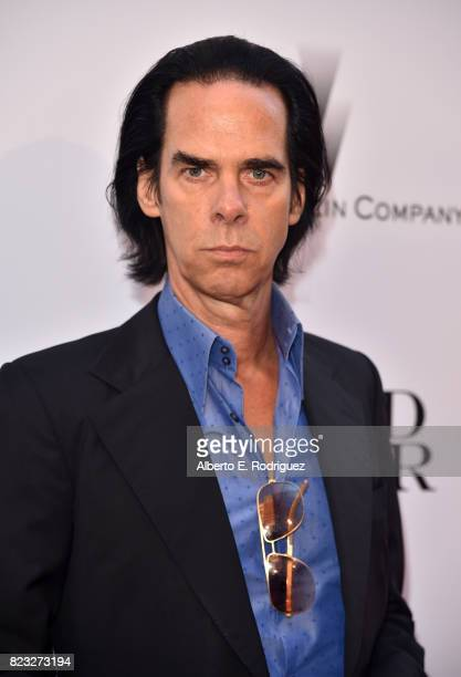 Composer Nick Cave attends the premiere of The Weinstein Company's 'Wind River' at The Theatre at Ace Hotel on July 26 2017 in Los Angeles California