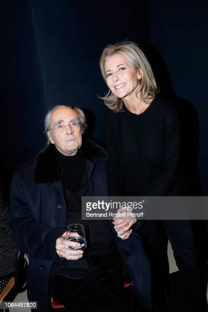 Composer of the show Michel Legrand and actress of the show Claire Chazal attend the Reopening of The Marigny Theater with the with the Musical Fairy...