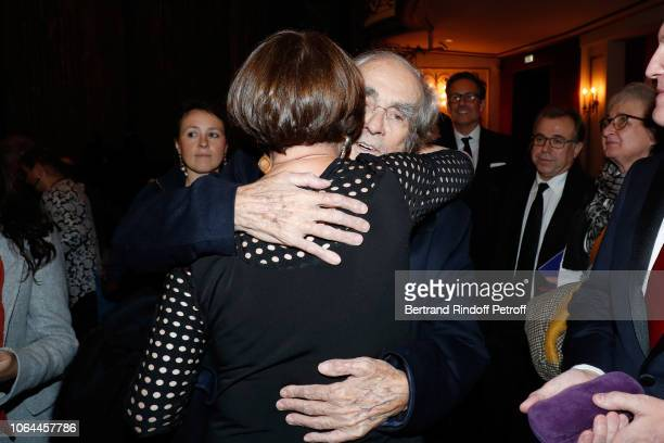 Composer of the show Michel Legrand and his wife Macha Meril attend the Reopening of The Marigny Theater with the with the Musical Fairy 'Peau d'Ane'...