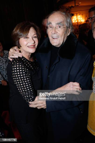 Composer of the show Michel Legrand and his wife Macha Meril attend the Reopening of The Marigny Theater with the with the Musical Fairy Peau d'Ane...