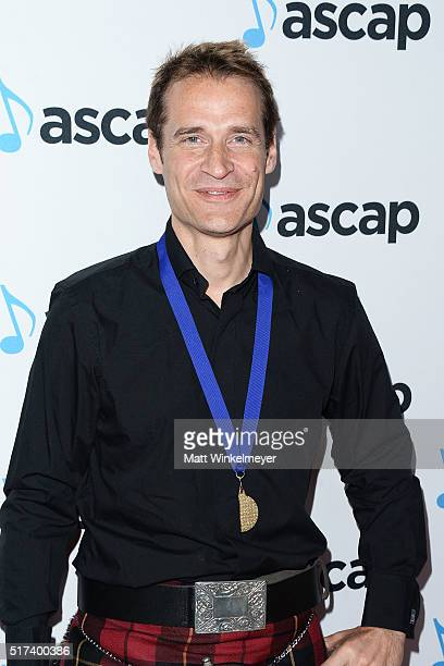 Composer Paul LeonardMorgan arrives at the 2016 ASCAP Screen Music Awards at The Beverly Hilton Hotel on March 24 2016 in Beverly Hills California
