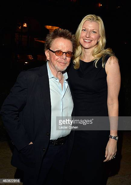 Composer Paul Williams and ASCAP CEO Elizabeth Matthews attend the Friends 'N' Family VIP Dinner 2015 Hosted by Mark Beaven and Andy Kipnes at...