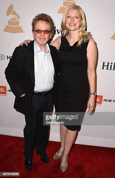 Composer Paul Williams and Beth Matthews attend the PreGRAMMY Gala and Salute To Industry Icons honoring Martin Bandier on February 7 2015 in Los...