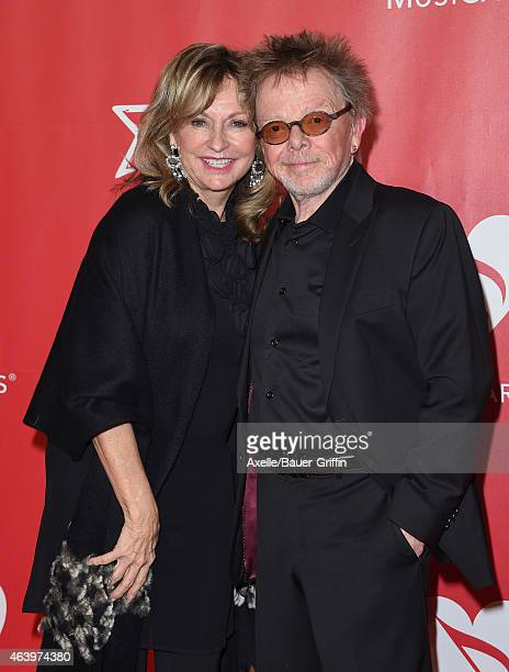 Composer Paul Williams and Mariana Williams arrive at the 2015 MusiCares Person of The Year honoring Bob Dylan at Los Angeles Convention Center on...