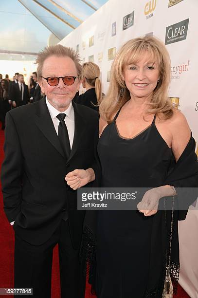 Composer Paul Williams and Mariana Williams attend the 18th Annual Critics' Choice Movie Awards at Barker Hangar on January 10 2013 in Santa Monica...