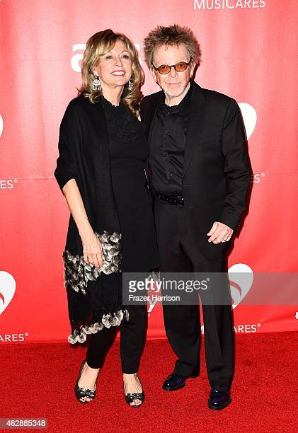 Composer Paul Williams and Mariana Williams attend the 25th anniversary MusiCares 2015 Person Of The Year Gala honoring Bob Dylan at the Los Angeles...
