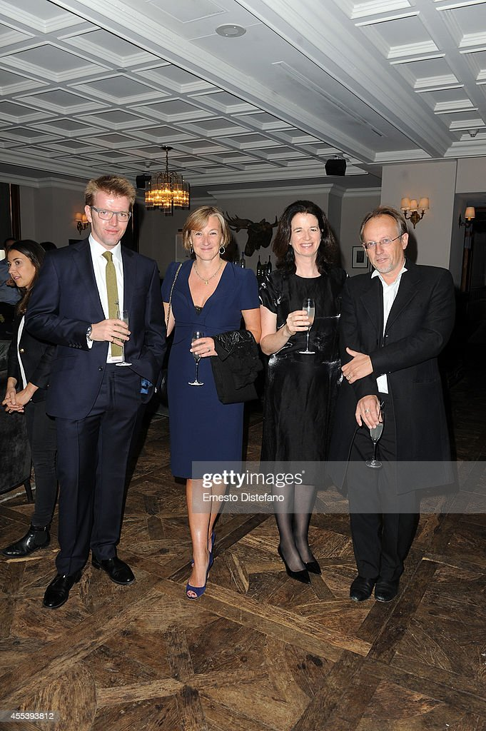 Composer Peter Gregson, producer Gail Egan, Andrea Calderwood and Bertrand Faivre at 'A Little Chaos' world premiere party hosted by GREY GOOSE vodka and Soho House Toronto during TIFF on September 13, 2014 in Toronto, Canada.