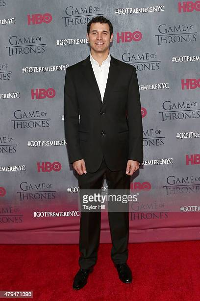 Composer Ramin Djawadi attends the Game Of Thrones Season 4 premiere at Avery Fisher Hall Lincoln Center on March 18 2014 in New York City