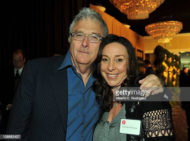 Composer Randy Newman and Gretchen Newman attend the 83rd Academy Awards nominations luncheon held at the Beverly Hilton Hotel on February 7 2011 in...
