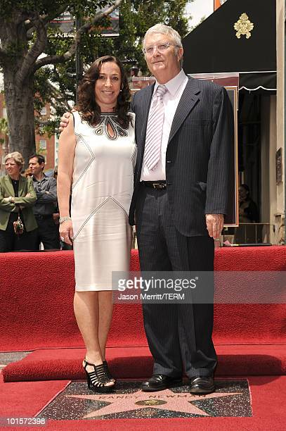 Composer Randy Newman and his wife Gretchen Preece attend the Hollywood Walk Of Fame star ceremony honoring Randy Newman on June 2 2010 in Hollywood...
