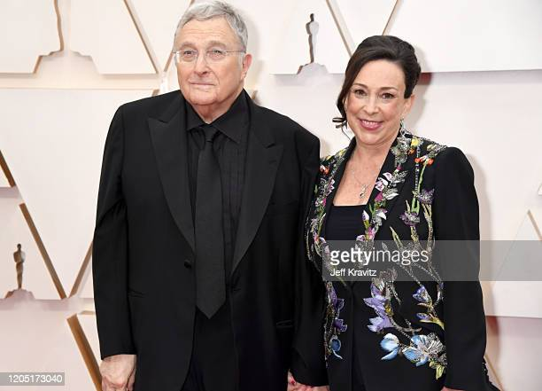 Composer Randy Newman and producer Gretchen Preece attend the 92nd Annual Academy Awards at Hollywood and Highland on February 09 2020 in Hollywood...