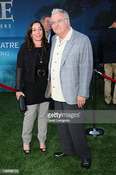 Composer Randy Newman and wife Gretchen Preece attend Film Independent's 2012 Los Angeles Film Festival premiere of Disney Pixar's Brave at the Dolby...