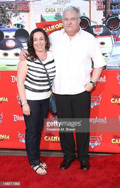 Composer Randy Newman and wife Gretchen Preece attend the Grand Opening Of Cars Land At Disneyland Resort on June 13 2012 in Anaheim California