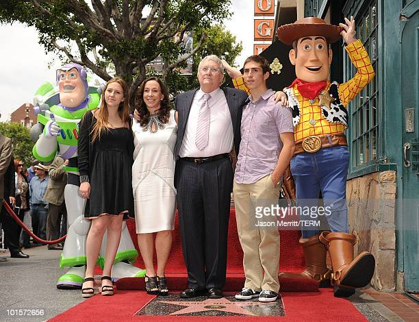 Composer Randy Newman his wife Gretchen Preece and their children attend the Hollywood Walk Of Fame star ceremony honoring Randy Newman on June 2...
