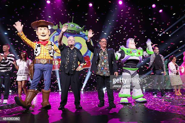 Composer Randy Newman of TOY STORY 1 2 and 3 and director John Lasseter of TOY STORY 4 took part today in 'Pixar and Walt Disney Animation Studios...