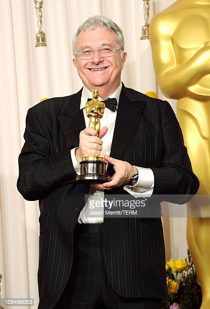 Composer Randy Newman winner of the award for Best Original Song for 'We Belong Together' from 'Toy Story 3' poses in the press room during the 83rd...