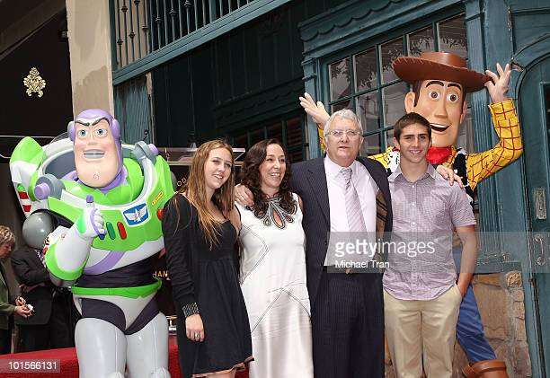 Composer Randy Newman with his wife Gretchen Preece and their children attend the Hollywood Walk Of Fame star ceremony honoring him on June 2 2010 in...
