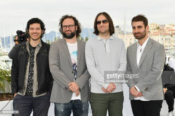 Composer Rich Vreeland film editor Julio Perez IV director David Robert Mitchell and cinematographer Mike Gioulakis attend Under The Silver Lake...