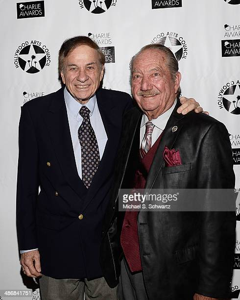 Composer Richard M Sherman and Magic Castle creator Milt Larsen attend the Hollywood Arts Council's 28th Annual Charlie Awards at the Hollywood...