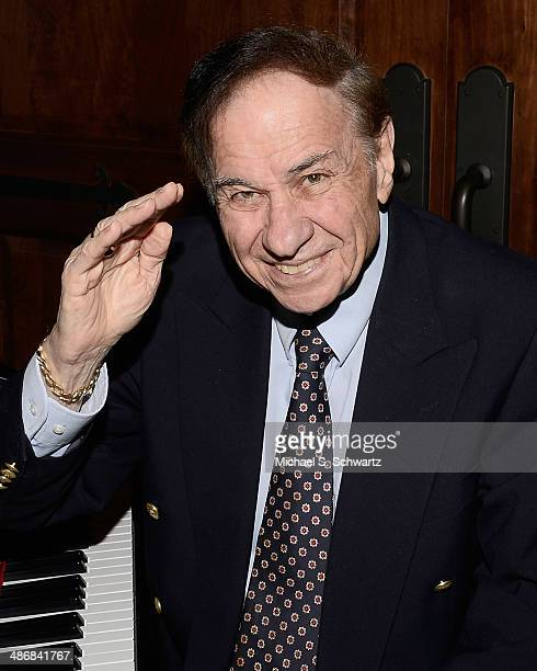 Composer Richard M Sherman poses during the Hollywood Arts Council's 28th Annual Charlie Awards at the Hollywood Roosevelt Hotel on April 25 2014 in...