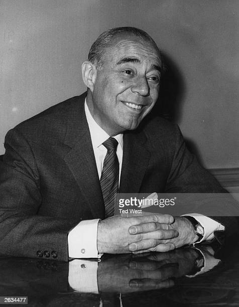 US composer Richard Rodgers in London for the opening of 'The Boys From Syracuse'