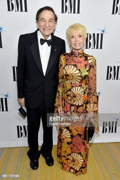 Composer Richard Sherman and Elizabeth Gluck at the 2017 Broadcast Music Inc Film TV Visual Media Awards at the Beverly Wilshire Hotel on May 10 2017...