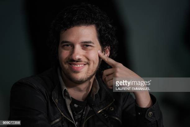 US composer Richard Vreeland aka Disasterpeace attends a press conference on May 16 2018 for the film 'Under the Silver Lake' at the 71st edition of...