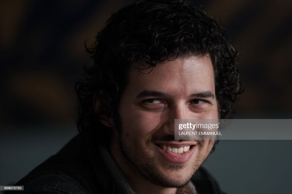 US composer Richard Vreeland, aka Disasterpeace, attends a press conference on May 16, 2018 for the film 'Under the Silver Lake' at the 71st edition of the Cannes Film Festival in Cannes, southern France.