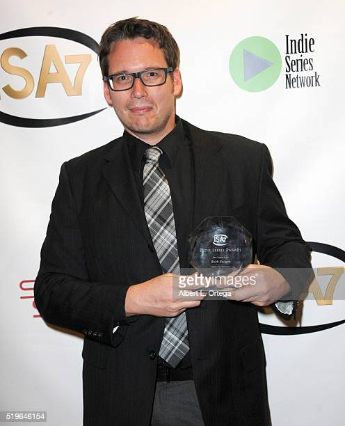 Composer Robb Padgett winner Best Original Score for Hollywood Wasteland at the 7th Annual Indie Series Awards held at El Portal Theatre on April 6...