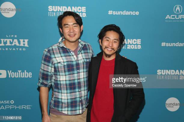 Composer Roger Suen and Director writer producer Justin Chon attend the Ms Purple Premiere during 2019 Sundance Film Festival at Library Center...