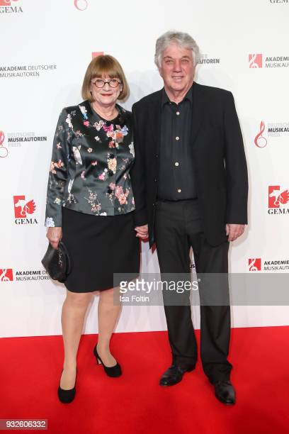 Composer Rolf Zuckowski and his wife Monika Zuckowski during the German musical authors award on March 15 2018 in Berlin Germany
