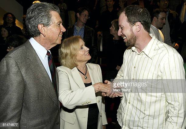 Composer Rolfe Kent actress Eva Marie Saint and Jeffrey Hayden attend the after party for the premiere of Sideways at the Academy of Motion Picture...
