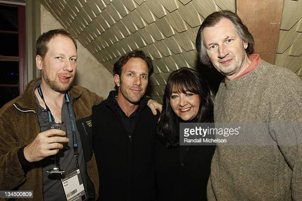 Composer Rolfe Kent Vasi Vangelos BMI Executive Doreen Ringer Ross and composer Elia Senairo attends the BMI Dinner during the 2009 Sundance Film...