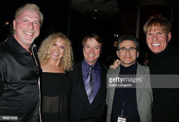 Composer Ron Abel ventriloquist/comedian Jay Johnson Murphy Cross Johnson's wife Sandi and Paul Kreppel attend the afterparty following the opening...