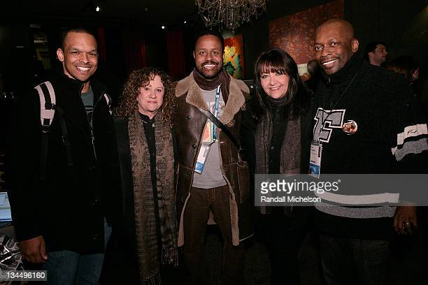 Composer Roy Campanella Linda Livingston BMI composer Mervin Warren Doreen Ringer Ross BMI and composer Kurt Farquhar attend the BMI Big Crowded Room...