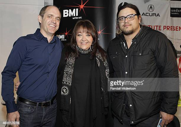 Composer Ryan Beveridge BMI's Doreen RingerRoss and director Sterlin Harry attend BMI's 16th Annual Composer/Director Roundtable Music Film The...