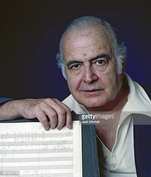 Composer Samuel Barber photographed in 1977.