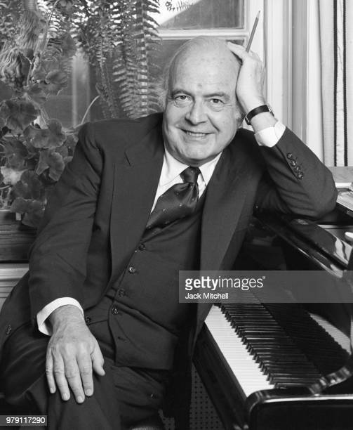 Composer Samuel Barber photographed in August 1978.